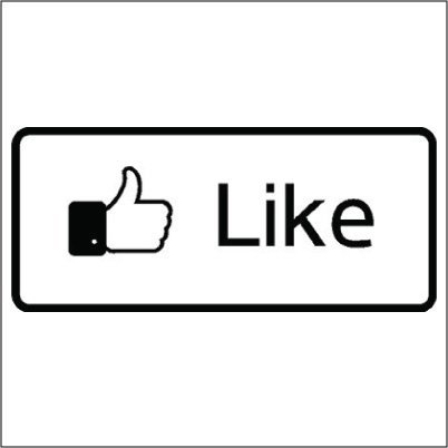 Face Book Like Vinyl Sticker for your wall, car or truck.