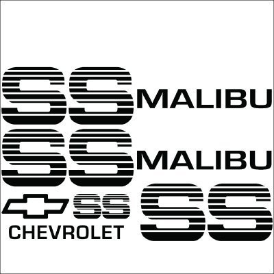 Malibu SS Choo Choo Custom Vinyl Decal Sticker Kit.