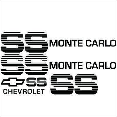 Monte Carlo SS Choo Choo Custom Vinyl Decal Sticker Kit.