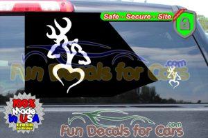 Buck Doe Tribal Decal Hunting Bow Vinyl Die Cut Stickers