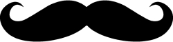 Mustache Stickers Type B Vinyl Decal