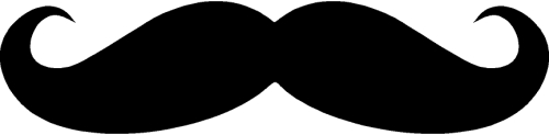 Mustache Stickers Type B Vinyl Decal