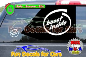 boost inside decal vinyl die cut stickers