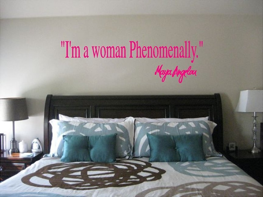 Maya Angelou I'm a Woman Phenomenally Wall Quote Sticker