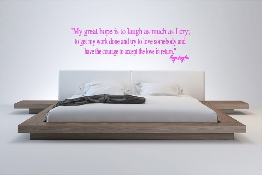 Maya Angelou My Great Hope Wall Quote Sticker