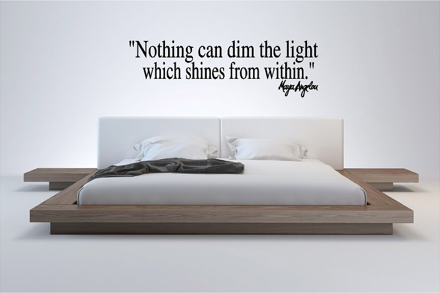 Maya Angelou Nothing Can Dim the Light Wall Quote Sticker