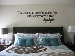 Maya Angelou The Truth Is Free Wall Quote Sticker