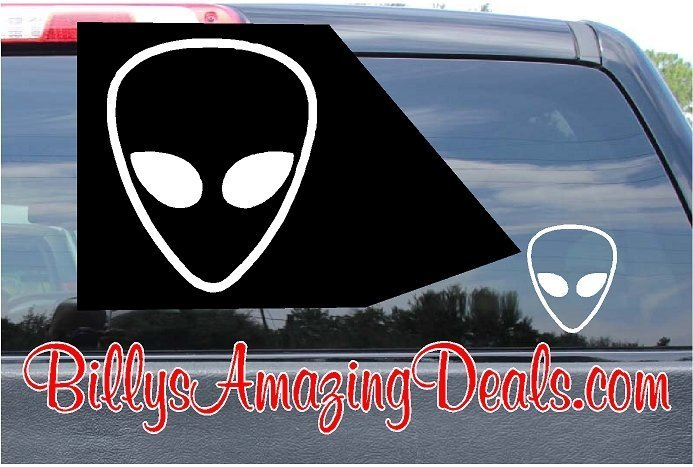 Alien Head Custom Vinyl Sticker