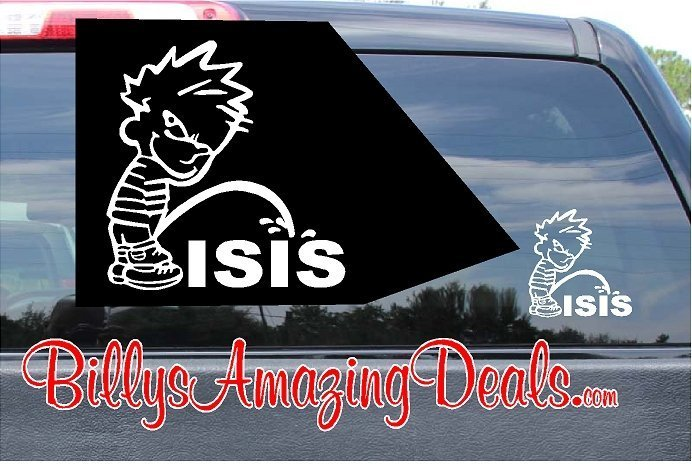 Calvin Pee on Isis Vinyl Sticker Decal
