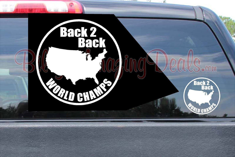 Back 2 Back World Champs Stickers Circle