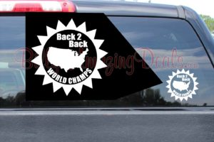 Back 2 Back World Champs Stickers Star A