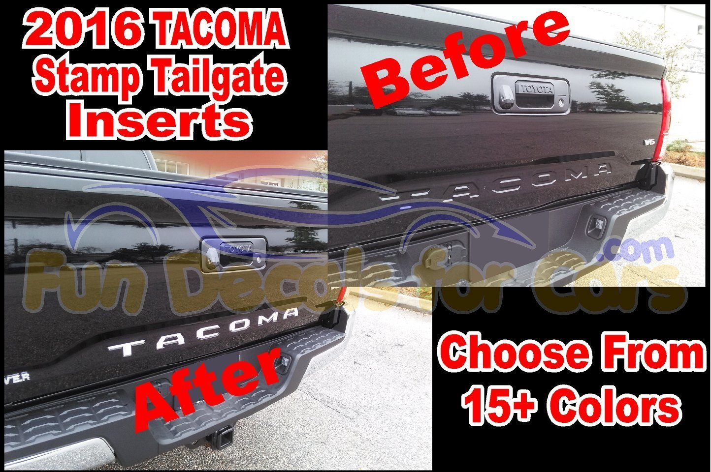 2016 toyota tacoma tailgate decals stamped sticker. Black Bedroom Furniture Sets. Home Design Ideas