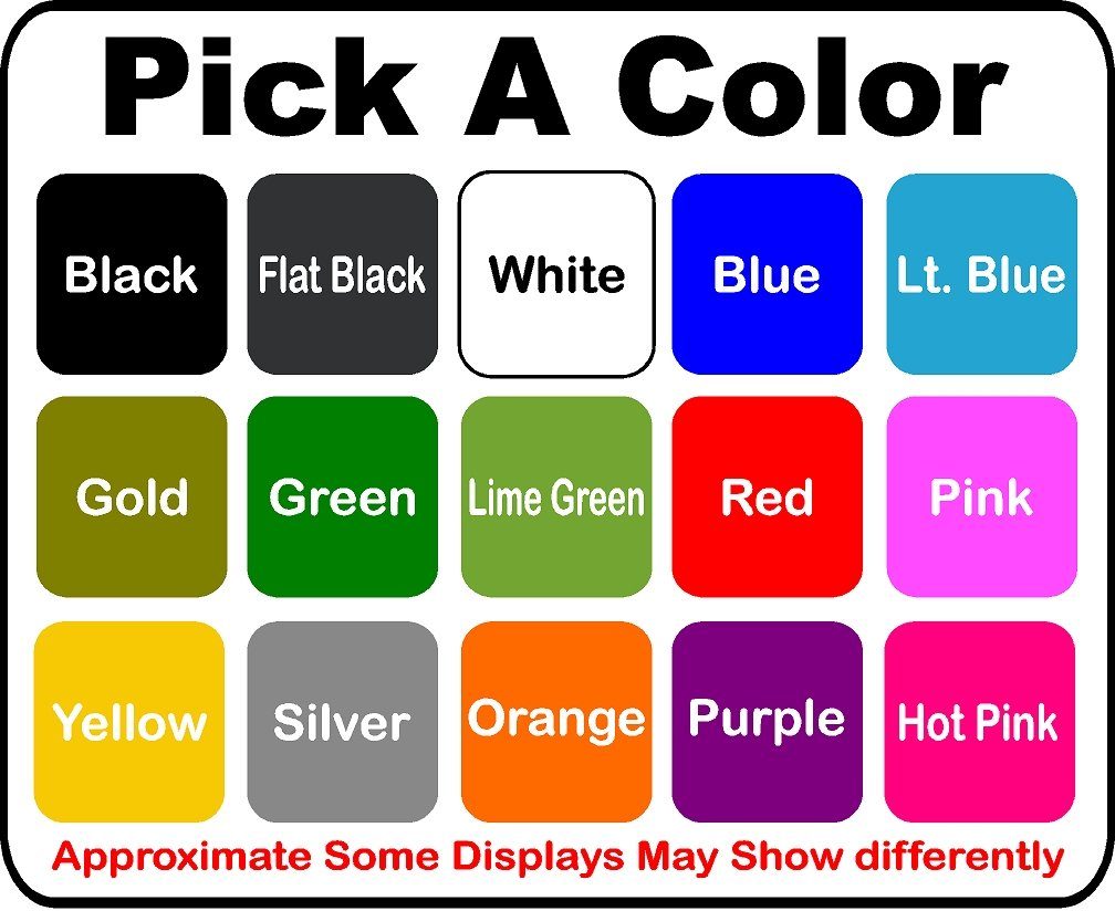 Pick Sticker Color Vinyl Decal