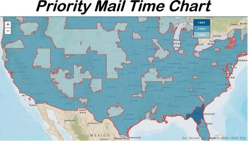Fun Decals For Cars Priority Mail Map Shipping Times Chart
