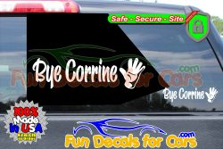 Bye Corrine Decal Waiving Hand Vinyl Sticker Dice Cut b