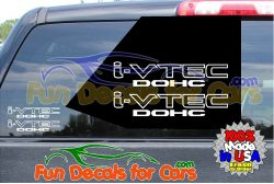 I VTEC DOHC Sticker Vinyl Decal Die Cut
