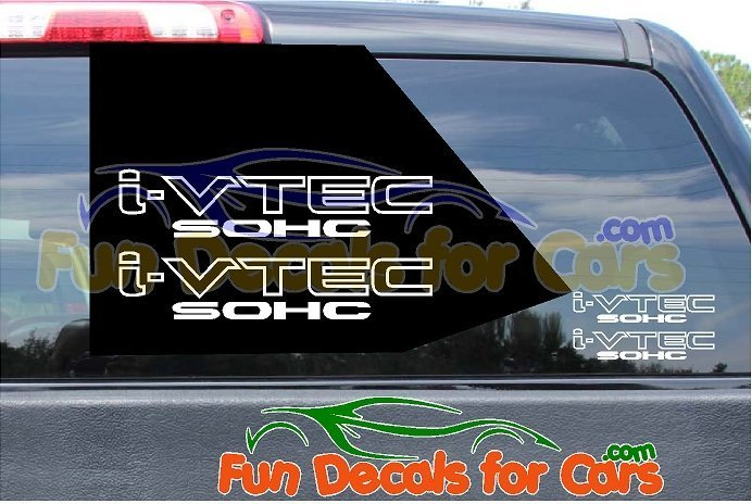 I VTEC SOHC Sticker Vinyl Decal Die Cut