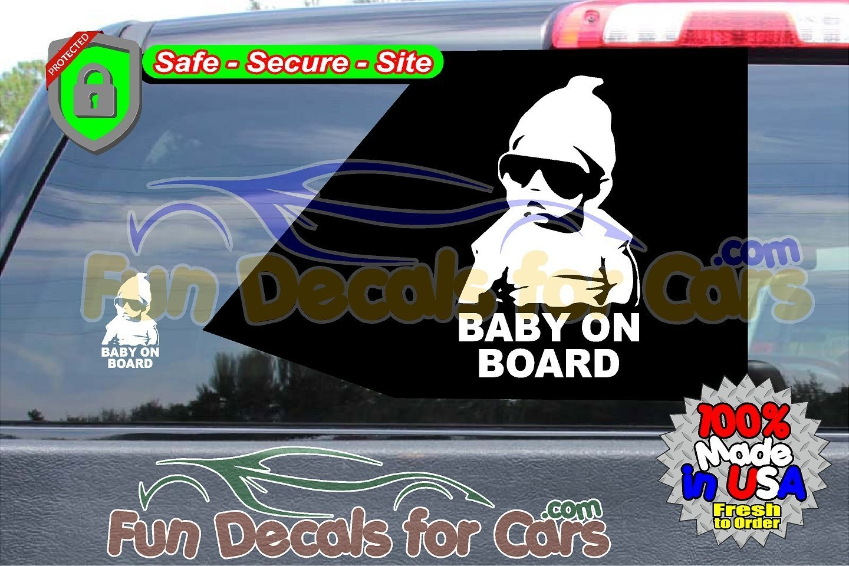 Carlos Baby on Board Decal Movie Hangover Vinyl Die Cut Stickers