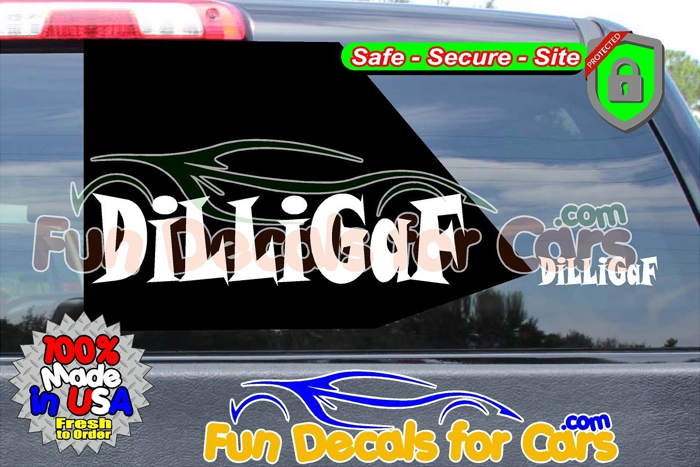 DiLLiGaF Sticker Funny Style A Vinyl Die Cut Decal