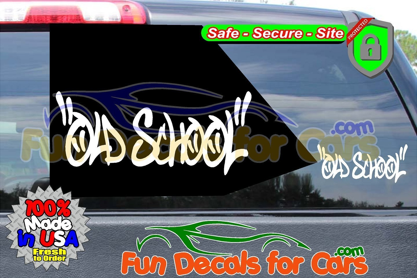 Old School Decal Lowrider Vinyl Die Cut Stickers