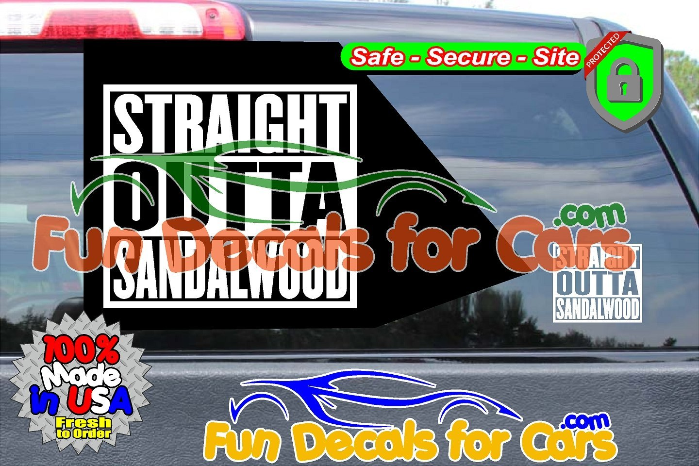 Straight Outta Sandalwood Decal Movie Straight Compton Vinyl Die Cut Stickers