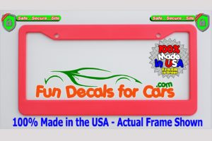 Blank License Plate Frame Pink