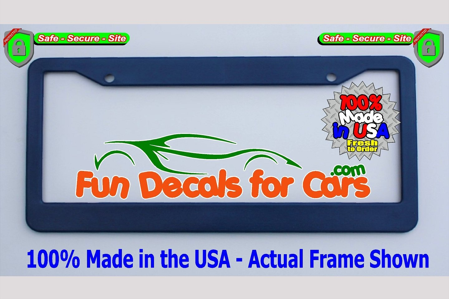 Blank License Plate Frame Royal Blue