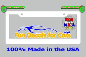 Blank License Plate Frame White