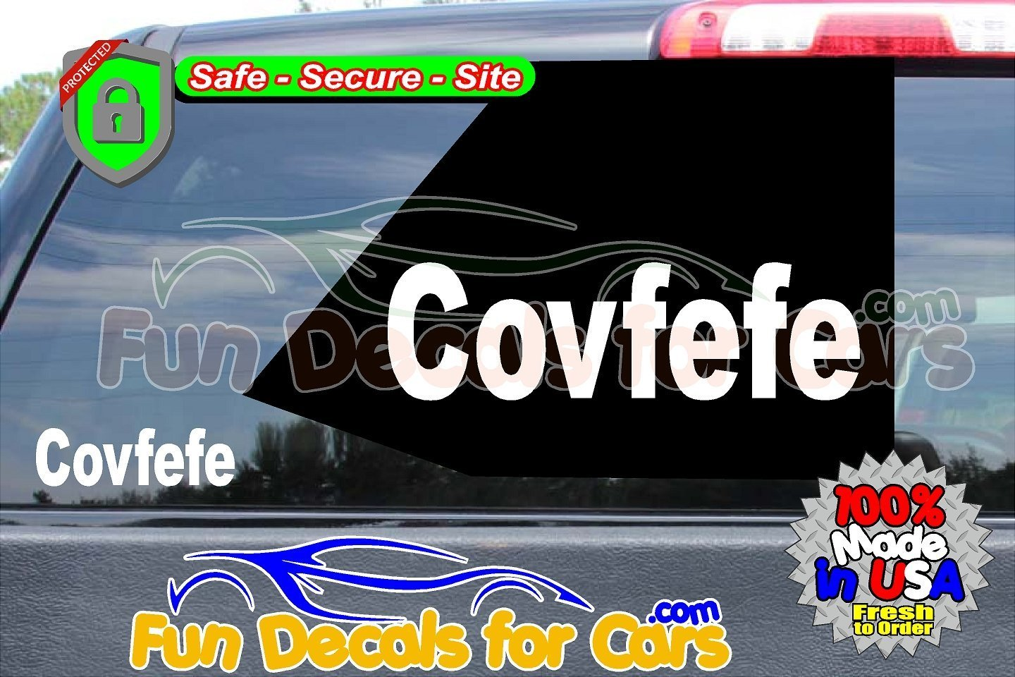 Covfefe Trump Twitter Vinyl Decal Die Cut Sticker