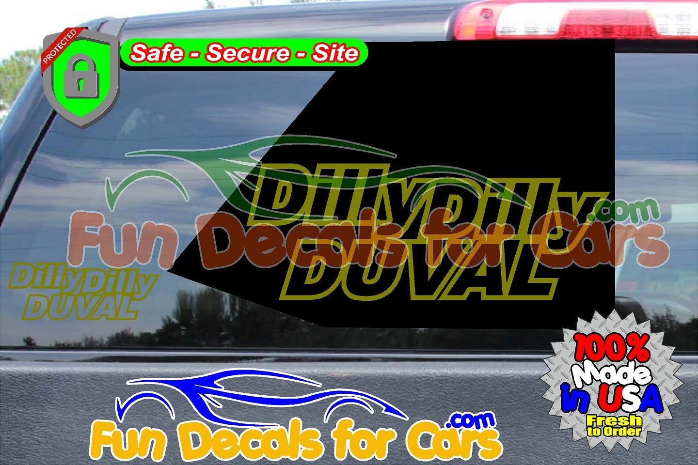 Dilly Dilly Duval Vinyl Decal Gold Style A
