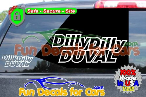 Dilly Dilly Duval Vinyl Decal White Style A