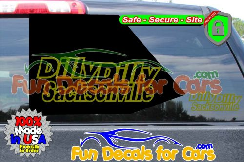 Dilly Dilly Sacksonville Vinyl Decal Gold Style B