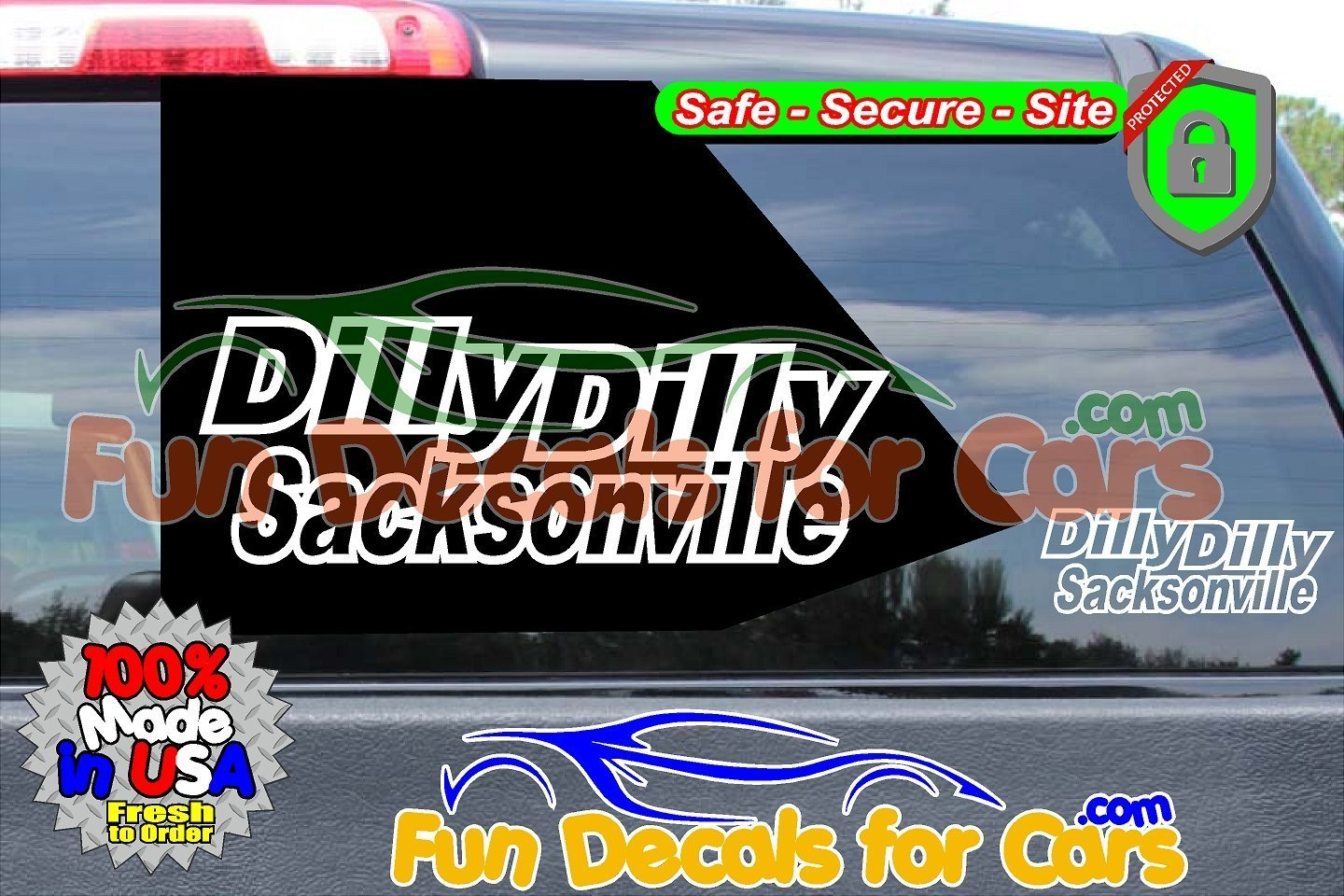 Dilly Dilly Sacksonville Vinyl Decal White Style B