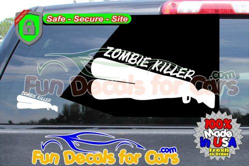 Zombie Killer Shotgun Vinyl Decal 24 12